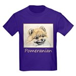 Pomeranian (Orange) Kids Dark T-Shirt