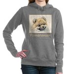 Pomeranian (Orange) Women's Hooded Sweatshirt