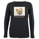 Pomeranian (Orange) Plus Size Long Sleeve Tee