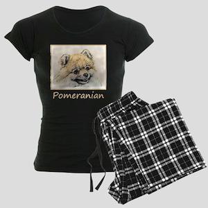 Pomeranian (Orange) Women's Dark Pajamas