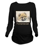 Pomeranian (Orange) Long Sleeve Maternity T-Shirt
