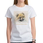 Pomeranian (Orange) Women's Classic White T-Shirt