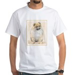 Pomeranian (Orange) White T-Shirt