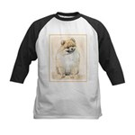 Pomeranian (Orange) Kids Baseball Tee