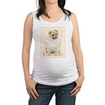 Pomeranian (Orange) Maternity Tank Top