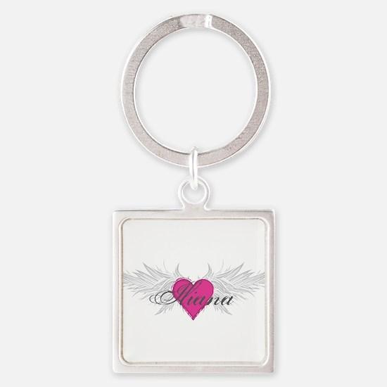 My Sweet Angel Iliana Square Keychain