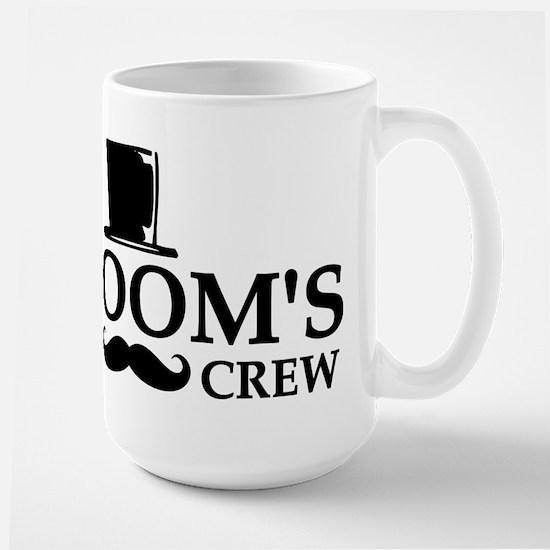 Mustache Groom's Crew Large Mug