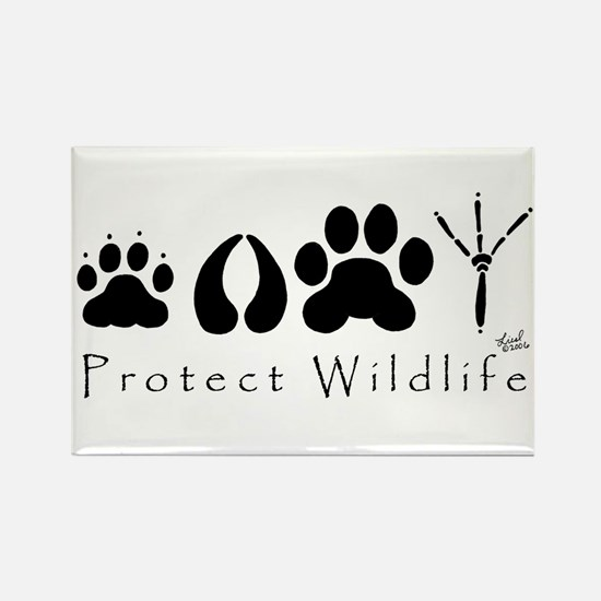 Protect Wildlife Rectangle Magnet (100 pack)