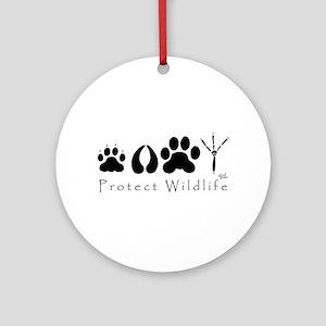 Protect Wildlife Ornament (Round)