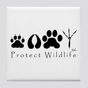 Protect Wildlife Tile Coaster