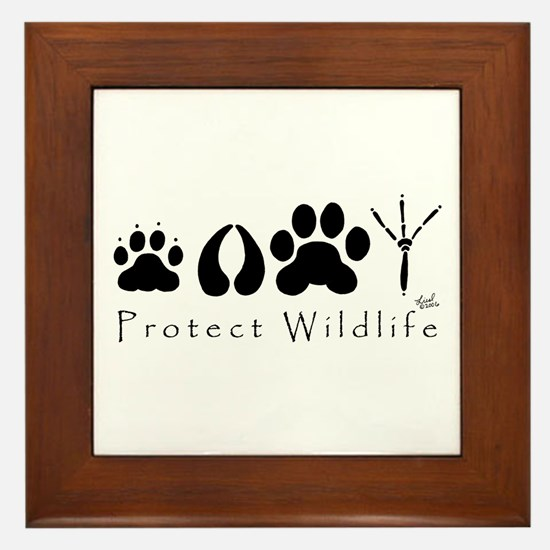 Protect Wildlife Framed Tile
