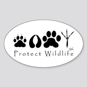 Protect Wildlife Oval Sticker