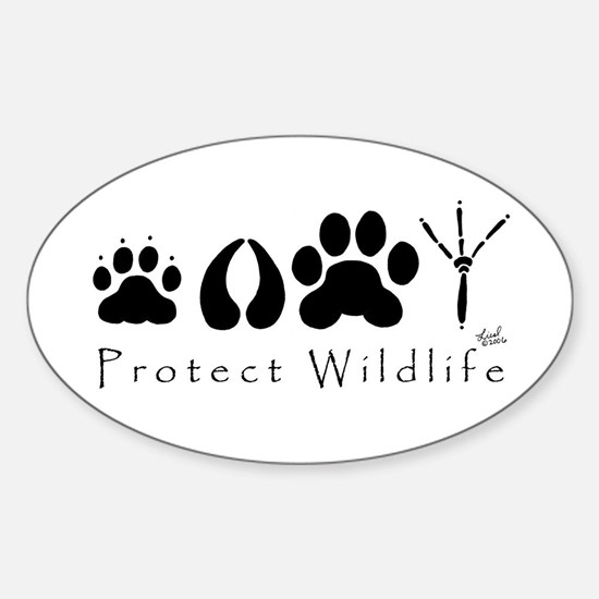 Protect Wildlife Oval Bumper Stickers