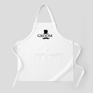 Mustache Groom Apron