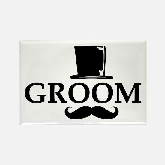 Mustache Groom Rectangle Magnet