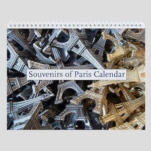 Souvenirs Of Paris Wall Calendar