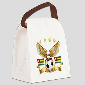 Togo Football Design Canvas Lunch Bag
