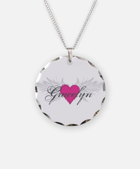 My Sweet Angel Gracelyn Necklace Circle Charm