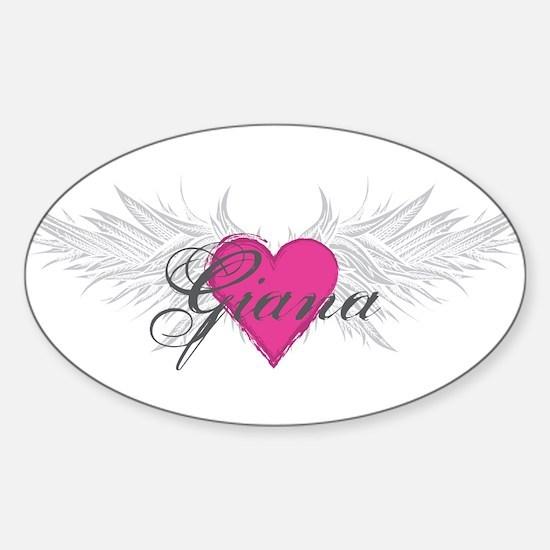 My Sweet Angel Giana Sticker (Oval)