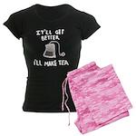 Ill make tea (dark) Women's Dark Pajamas