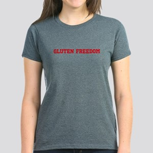 GLUTEN FREEDOM Women's Dark T-Shirt