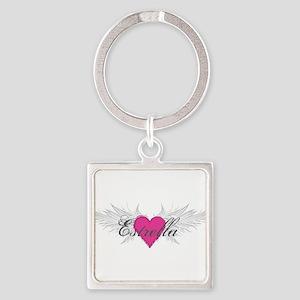 My Sweet Angel Estrella Square Keychain
