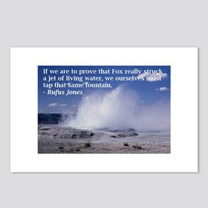 Rufus Jones fountain Postcards (Package of 8)