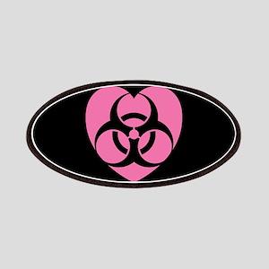 Pink Biohazard Heart Patches