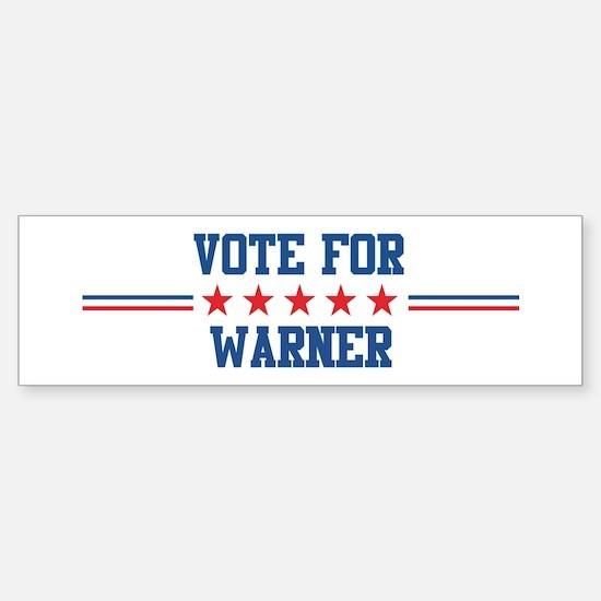 Vote for WARNER Bumper Bumper Bumper Sticker