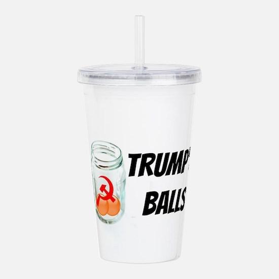 Trump's Balls in a Jar Acrylic Double-wall Tumbler