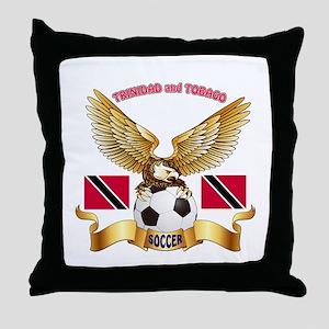 Trinidad and Tobago Football Design Throw Pillow