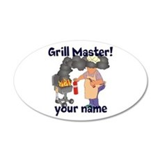 Personalized Grill Master Wall Decal