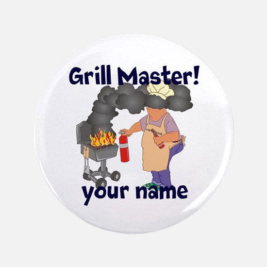 """Personalized Grill Master 3.5"""" Button (100 pack)"""