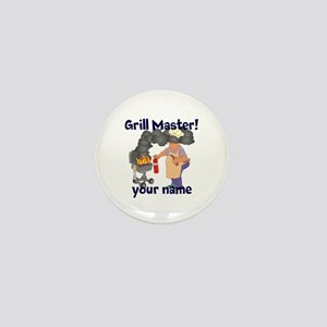 Personalized Grill Master Mini Button