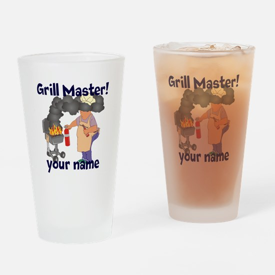 Personalized Grill Master Drinking Glass