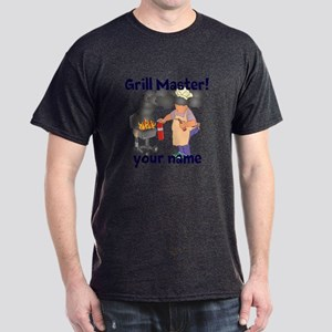 Personalized Grill Master Dark T-Shirt