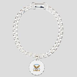 Uruguay Football Design Charm Bracelet, One Charm