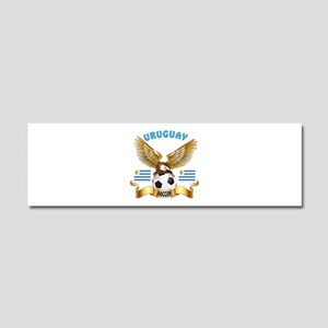 Uruguay Football Design Car Magnet 10 x 3