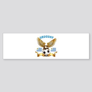 Uruguay Football Design Sticker (Bumper)