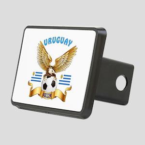 Uruguay Football Design Rectangular Hitch Cover