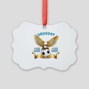 Uruguay Football Design Picture Ornament