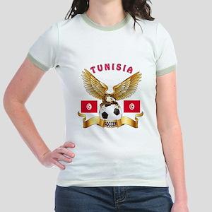 Tunisia Football Design Jr. Ringer T-Shirt