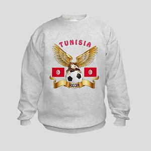 Tunisia Football Design Kids Sweatshirt