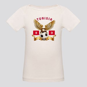 Tunisia Football Design Organic Baby T-Shirt