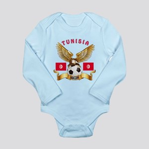Tunisia Football Design Long Sleeve Infant Bodysui