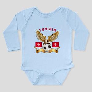Tunisia Football Design Long Sleeve Infant Bodysui