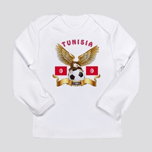 Tunisia Football Design Long Sleeve Infant T-Shirt