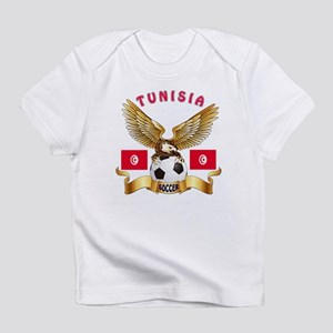 Tunisia Football Design Infant T-Shirt