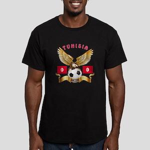 Tunisia Football Design Men's Fitted T-Shirt (dark