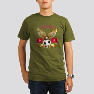 Tunisia Football Design Organic Men's T-Shirt (dar